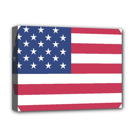 American Flag Deluxe Canvas 16  X 12   by Nexatart