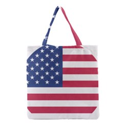 American Flag Grocery Tote Bag by Nexatart