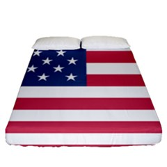 American Flag Fitted Sheet (queen Size) by Nexatart
