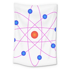 Atom Model Vector Clipart Large Tapestry by Nexatart