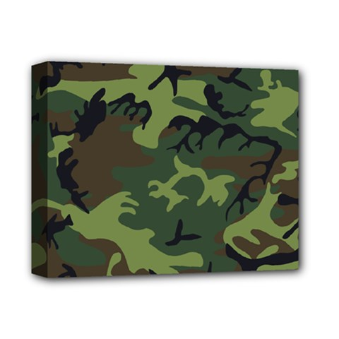Camouflage Green Brown Black Deluxe Canvas 14  X 11  by Nexatart