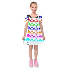 Download Upload Web Icon Internet Kids  Short Sleeve Velvet Dress