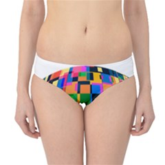 Color Focusing Screen Vault Arched Hipster Bikini Bottoms