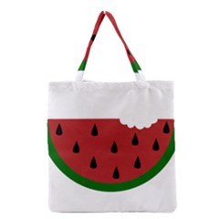 Food Slice Fruit Bitten Watermelon Grocery Tote Bag by Nexatart