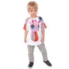 Dragon Toy Pink Plaything Creature Kids  Raglan Tee by Nexatart