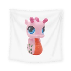 Dragon Toy Pink Plaything Creature Square Tapestry (small) by Nexatart