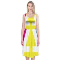 Graphic Design Web Design Midi Sleeveless Dress