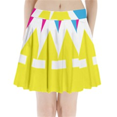 Graphic Design Web Design Pleated Mini Skirt