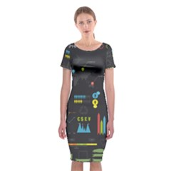 Graphic Table Symbol Vector Chart Classic Short Sleeve Midi Dress by Nexatart