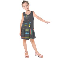 Graphic Table Symbol Vector Chart Kids  Sleeveless Dress