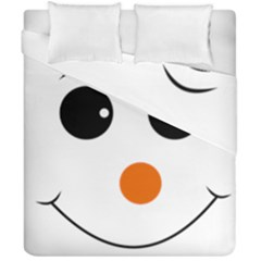Happy Face With Orange Nose Vector File Duvet Cover Double Side (california King Size) by Nexatart