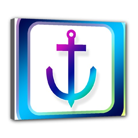 Icon Anchor Containing Fixing Deluxe Canvas 24  X 20   by Nexatart