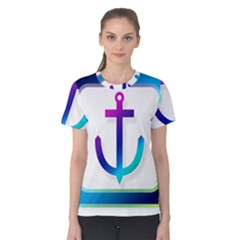 Icon Anchor Containing Fixing Women s Cotton Tee
