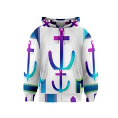 Icon Anchor Containing Fixing Kids  Zipper Hoodie