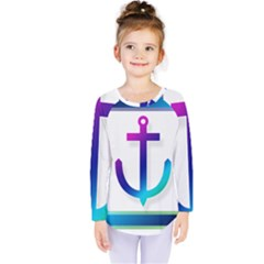 Icon Anchor Containing Fixing Kids  Long Sleeve Tee