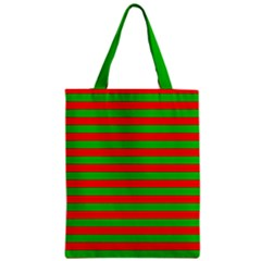 Pattern Lines Red Green Zipper Classic Tote Bag