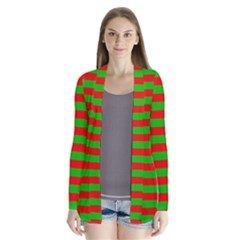 Pattern Lines Red Green Cardigans