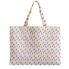 Fruit Pattern Vector Background Zipper Mini Tote Bag