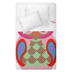 Owl Colorful Patchwork Art Duvet Cover Double Side (single Size) by Nexatart