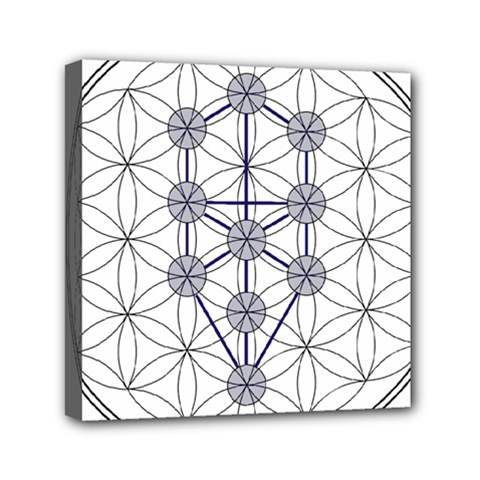 Tree Of Life Flower Of Life Stage Mini Canvas 6  X 6  by Nexatart