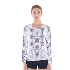 Tree Of Life Flower Of Life Stage Women s Long Sleeve Tee by Nexatart