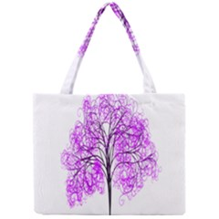 Purple Tree Mini Tote Bag