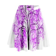 Purple Tree High Waist Skirt