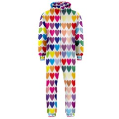 Heart Love Color Colorful Hooded Jumpsuit (men)