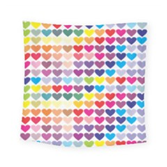 Heart Love Color Colorful Square Tapestry (small) by Nexatart