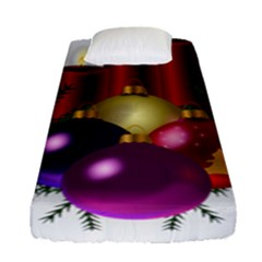 Candles Christmas Tree Decorations Fitted Sheet (single Size)