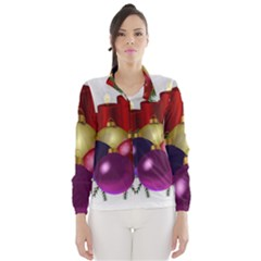 Candles Christmas Tree Decorations Wind Breaker (women) by Nexatart