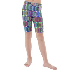 Psychedelic 70 S 1970 S Abstract Kids  Mid Length Swim Shorts by Nexatart