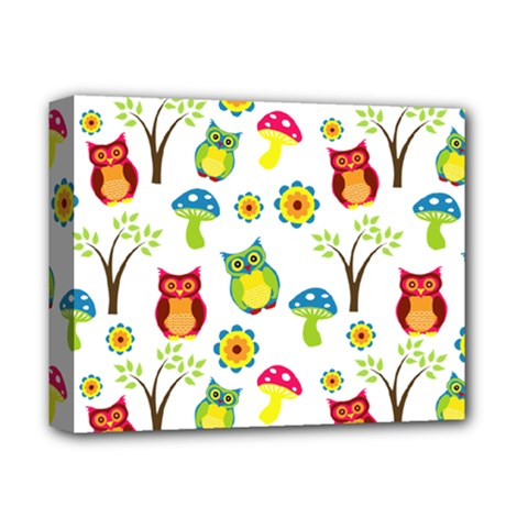 Cute Owl Wallpaper Pattern Deluxe Canvas 14  X 11  by Nexatart