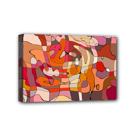Abstract Abstraction Pattern Modern Mini Canvas 6  X 4