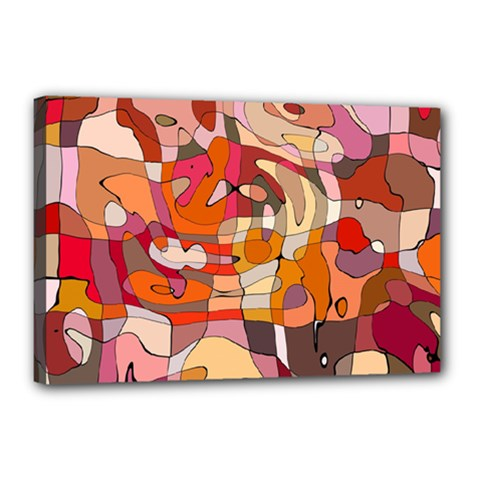 Abstract Abstraction Pattern Modern Canvas 18  X 12  by Nexatart