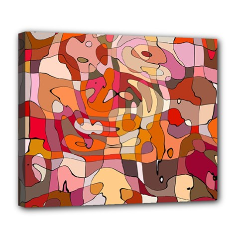 Abstract Abstraction Pattern Modern Deluxe Canvas 24  X 20