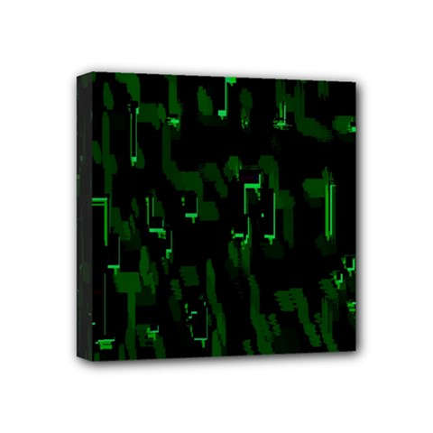 Abstract Art Background Green Mini Canvas 4  X 4