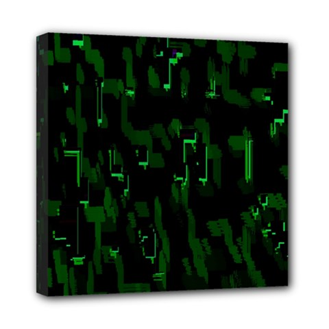 Abstract Art Background Green Mini Canvas 8  X 8
