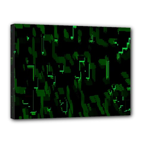 Abstract Art Background Green Canvas 16  X 12
