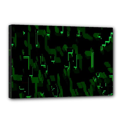 Abstract Art Background Green Canvas 18  X 12