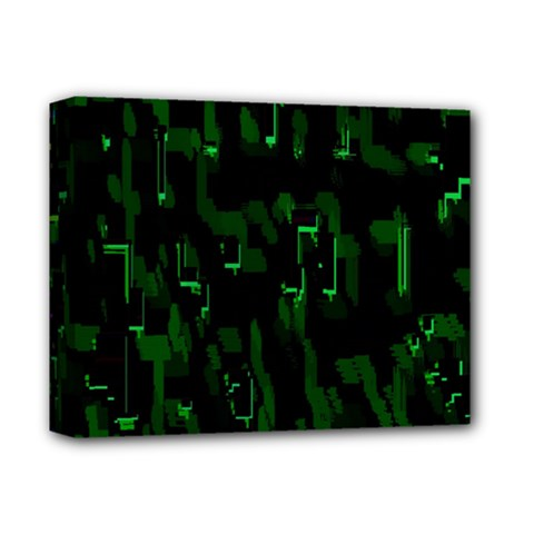 Abstract Art Background Green Deluxe Canvas 14  X 11
