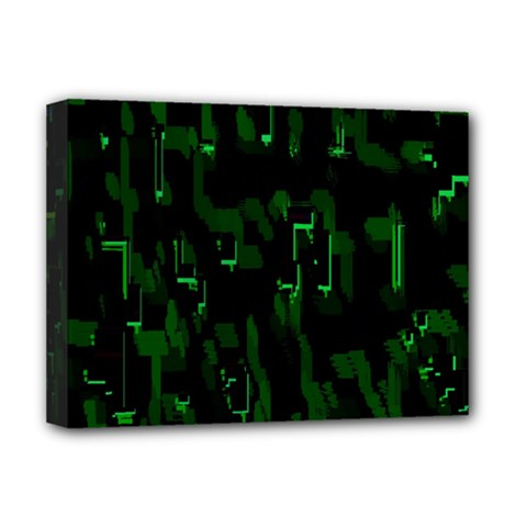 Abstract Art Background Green Deluxe Canvas 16  X 12