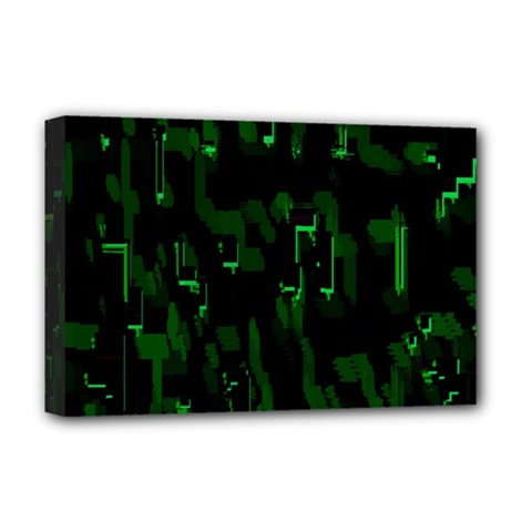 Abstract Art Background Green Deluxe Canvas 18  X 12