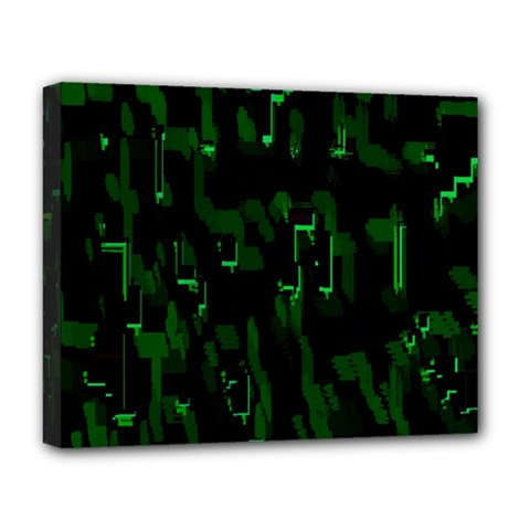Abstract Art Background Green Deluxe Canvas 20  X 16