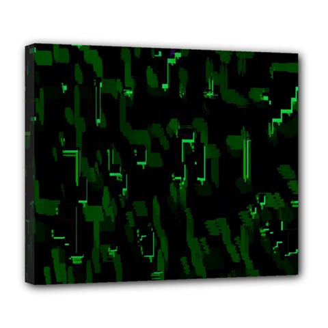 Abstract Art Background Green Deluxe Canvas 24  X 20   by Nexatart