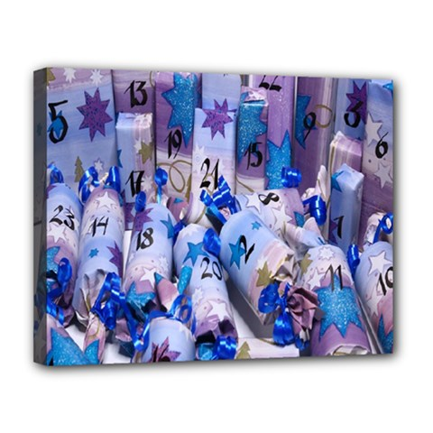 Advent Calendar Gifts Canvas 14  X 11