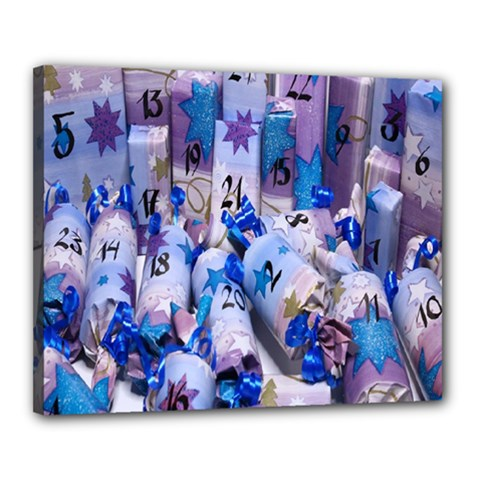 Advent Calendar Gifts Canvas 20  X 16