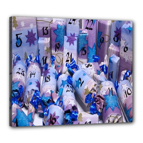 Advent Calendar Gifts Canvas 24  X 20