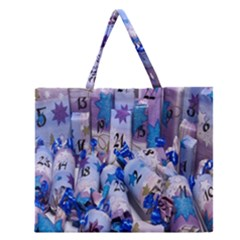 Advent Calendar Gifts Zipper Large Tote Bag