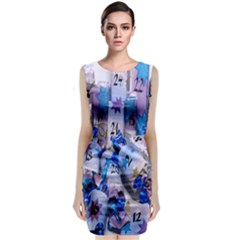 Advent Calendar Gifts Sleeveless Velvet Midi Dress